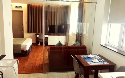 Serviced apartment for rent in district 1, HCMC - Living room 601