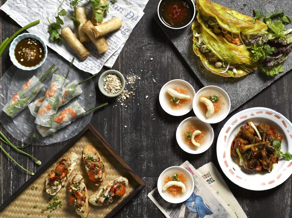 East meets West in Vietnamese cuisine.